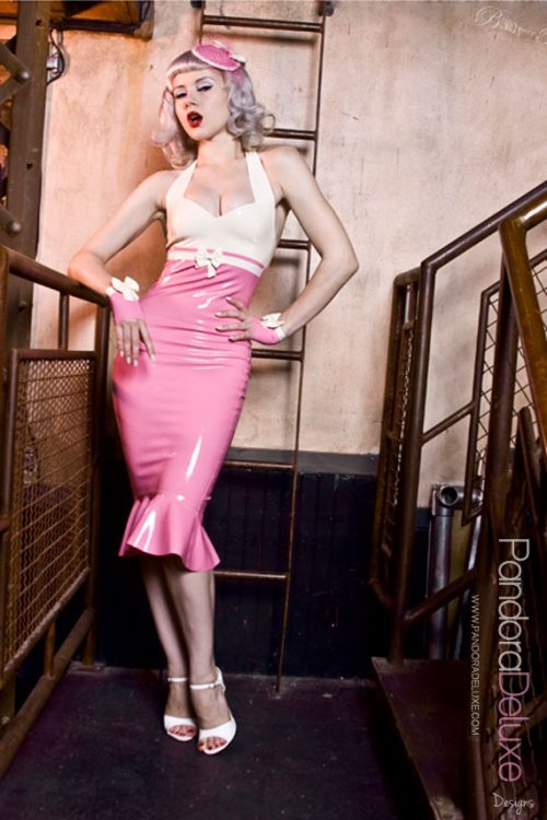 Lily Latex Pencil Dress by Pandora Deluxe