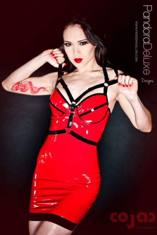 Rachael Latex Harness Dress by Pandora Deluxe