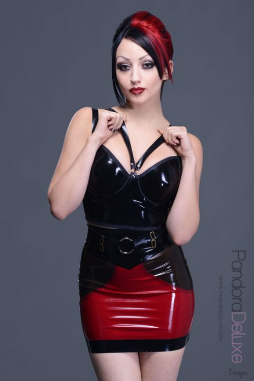 SpellBound V-Harness Latex Bra (Longline) by Pandora Deluxe