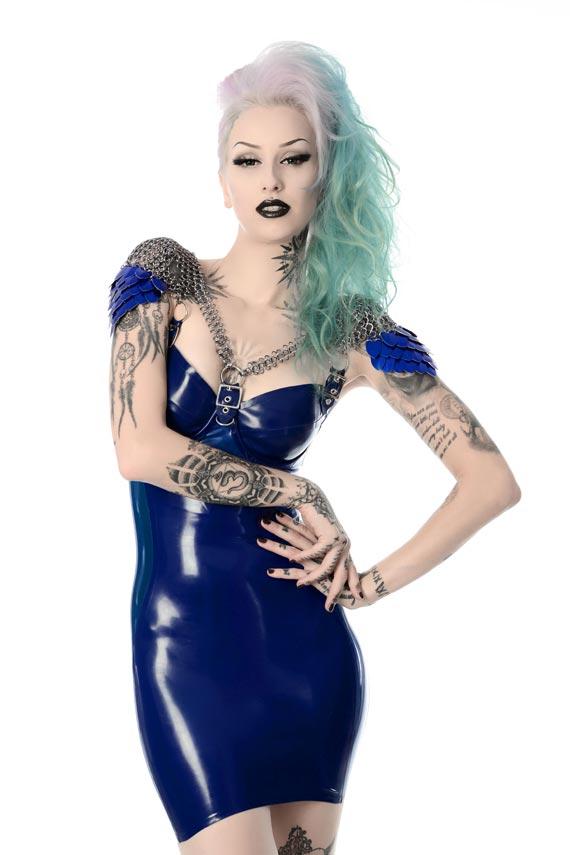 Saphira Latex Dress by Pandora Deluxe