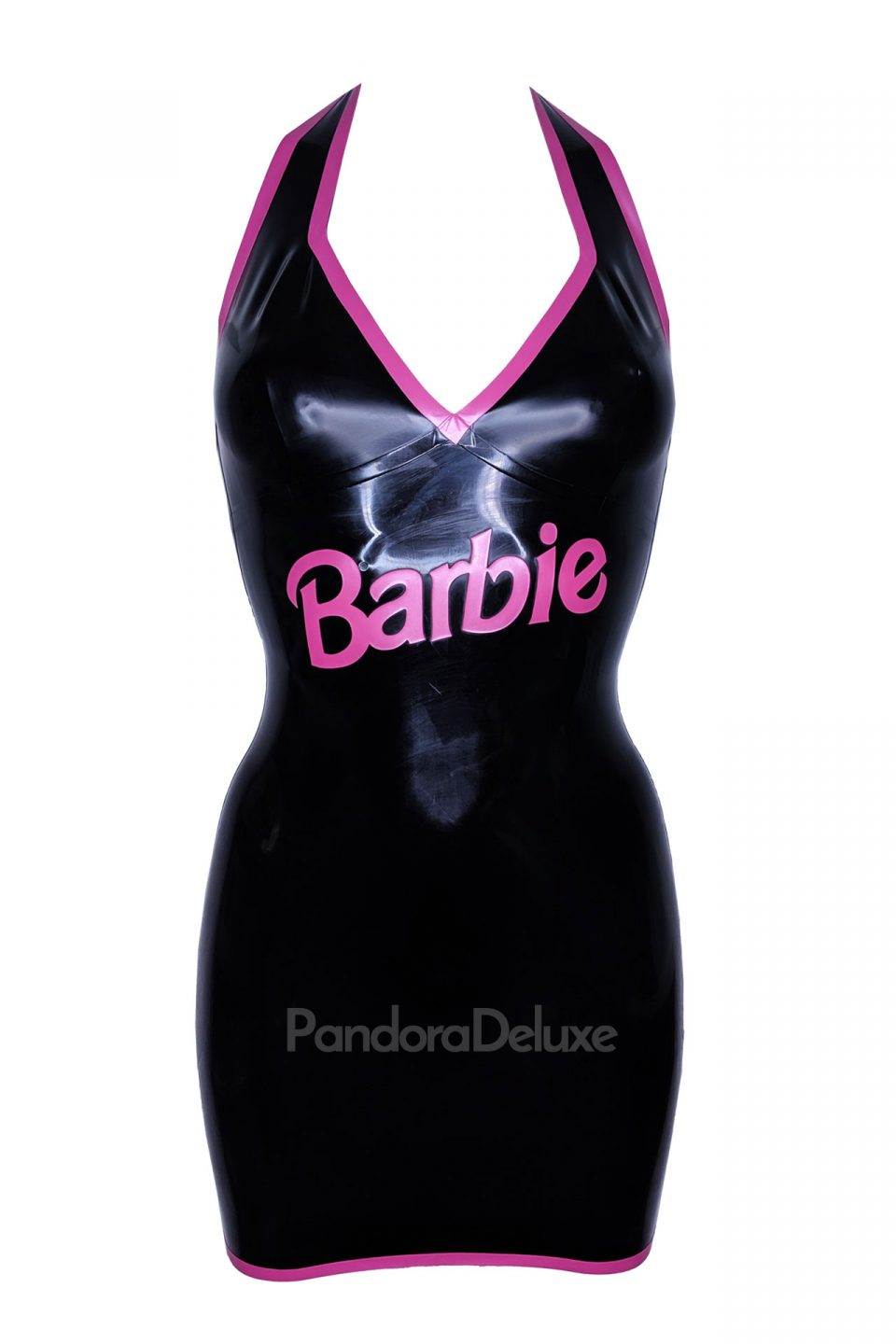 Goth Barbie Latex Halter Dress by Pandora Deluxe
