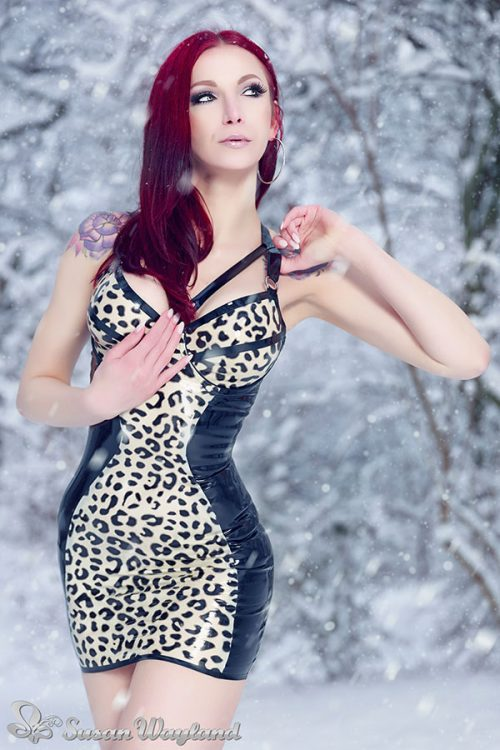Stella Leopard Print Latex Dress