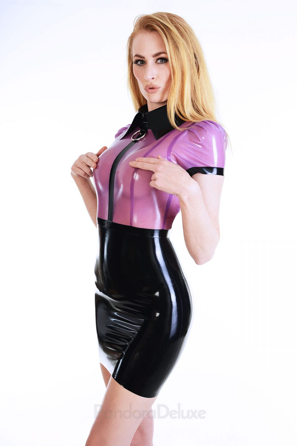 Emily Latex Bodycon Dress by Pandora Deluxe