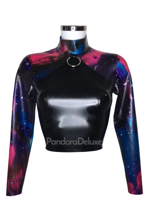 Galaxy Latex Long Sleeve Top by Pandora Deluxe