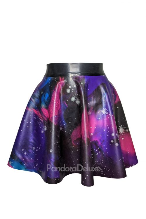 Galaxy Latex Skater Skirt by Pandora Deluxe