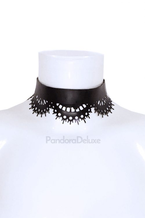Valentina Latex Lace Choker by Pandora Deluxe