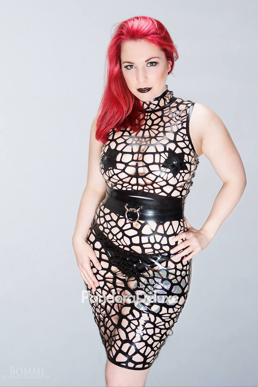 Astra Organic Structure Net Latex Crop Top by Pandora Deluxe
