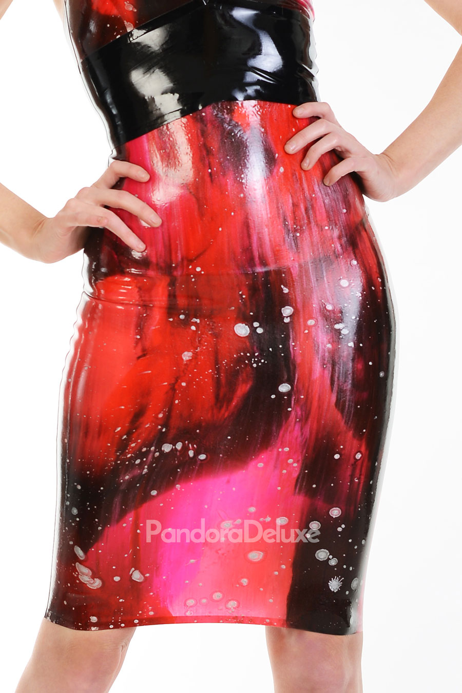 Galaxy Latex Pencil Skirt by Pandora Deluxe