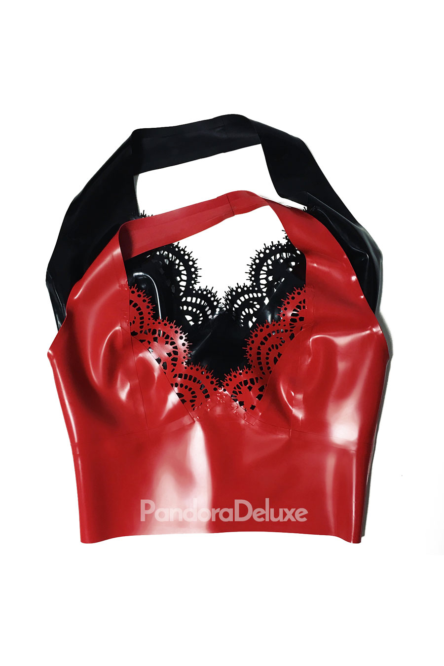 Valentina Latex Lace Crop Top by Pandora Deluxe