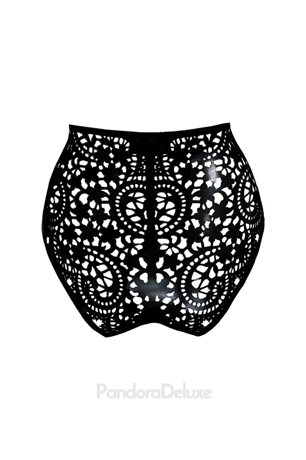 Valentina latex lace brief