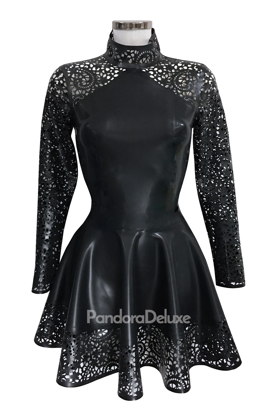 VALENTINA LACE HIGH NECK SKATER DRESS BY PANDORA DELUXE