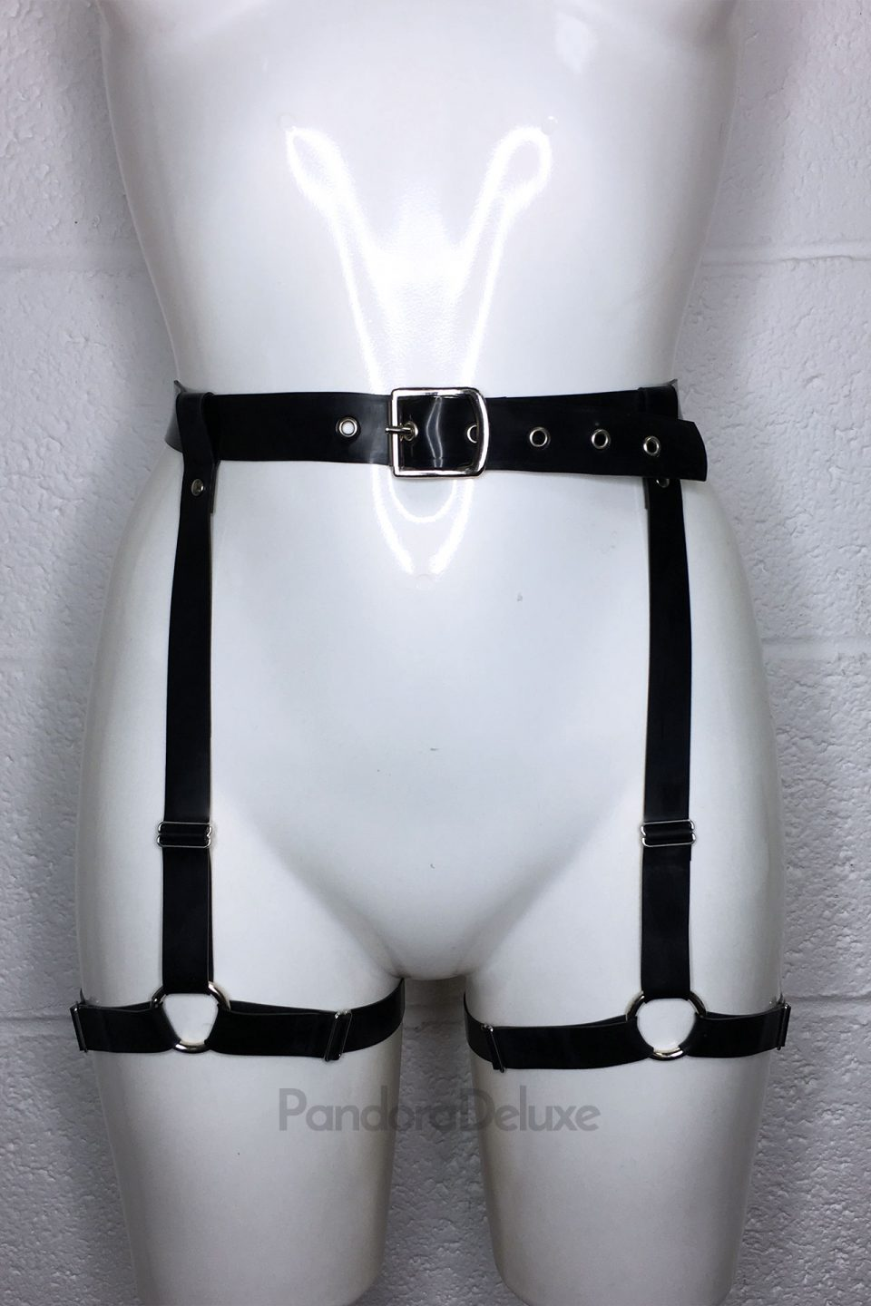 Latex O Ring Harness Belt by Pandora Deluxe