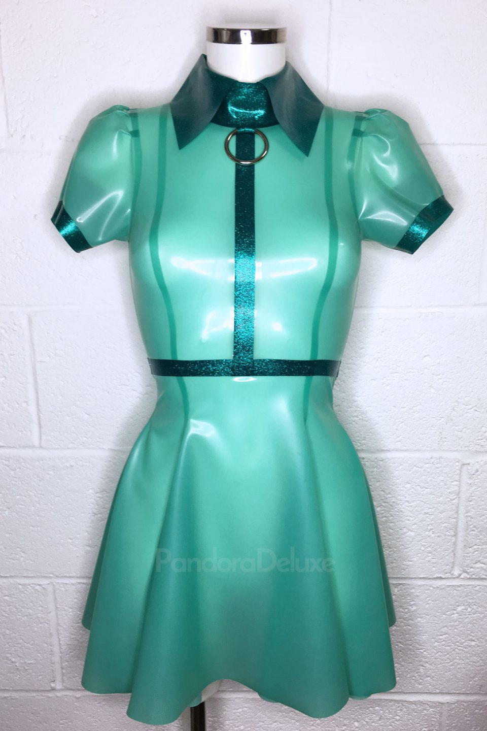 RTS-EMILY-LATEX-DRESS-AQUA-TURQ.-GLITTER-SIZE-S