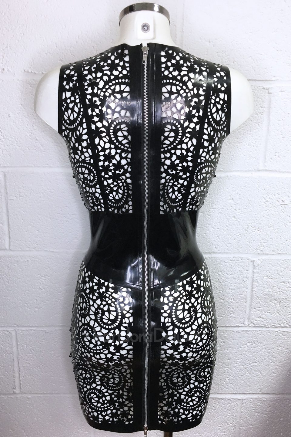 Valentina Lace Latex Dress by Pandora Deluxe
