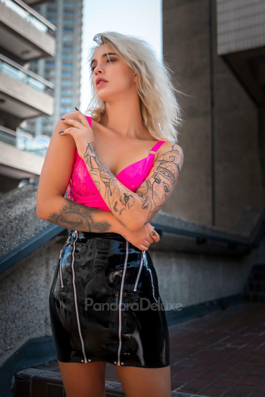 Double Zip Latex Mini Skirt