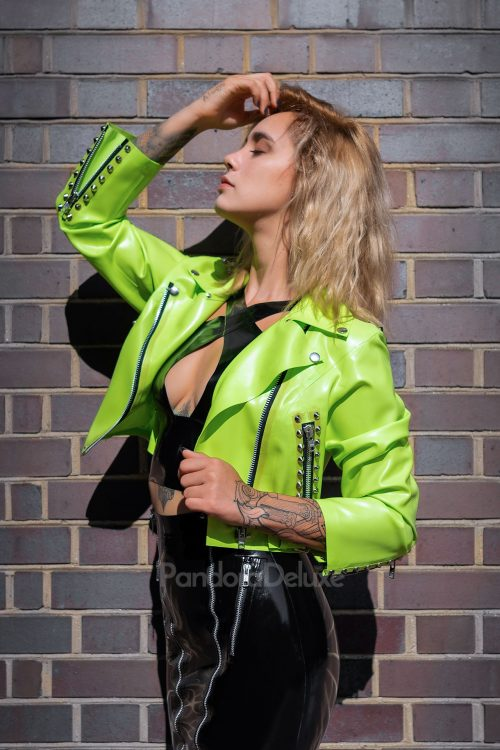 Nova Latex Biker Jacket BY PANDORA DELUXE
