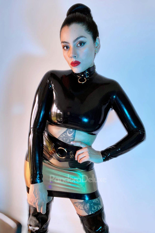 Raven Latex Choker by Pandora Deluxe