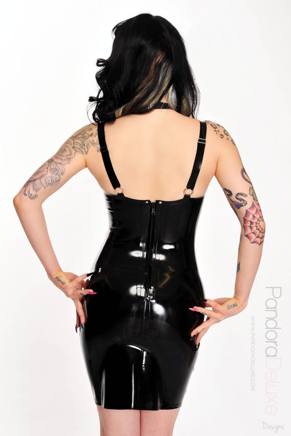 faye latex harness dress 02