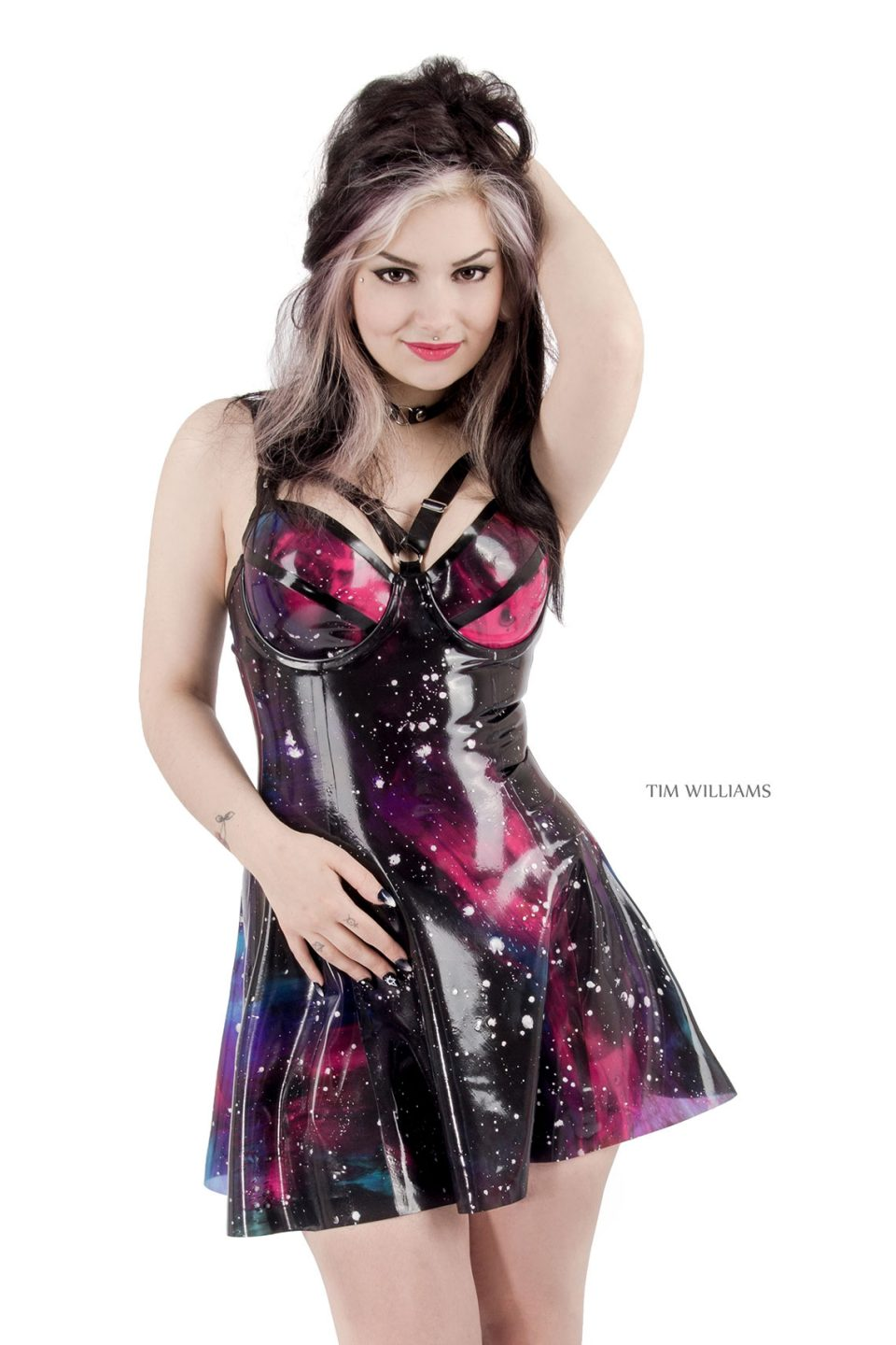 Galaxy Skater Dress with Bra Harness