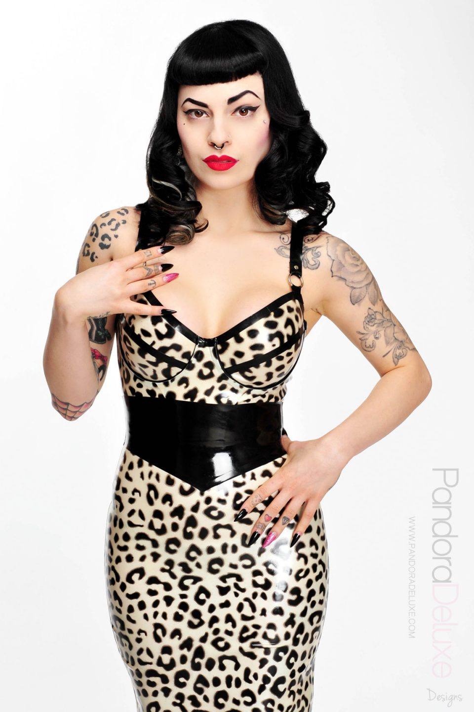 Selina Leopard Latex Bra Top by Pandora Deluxe