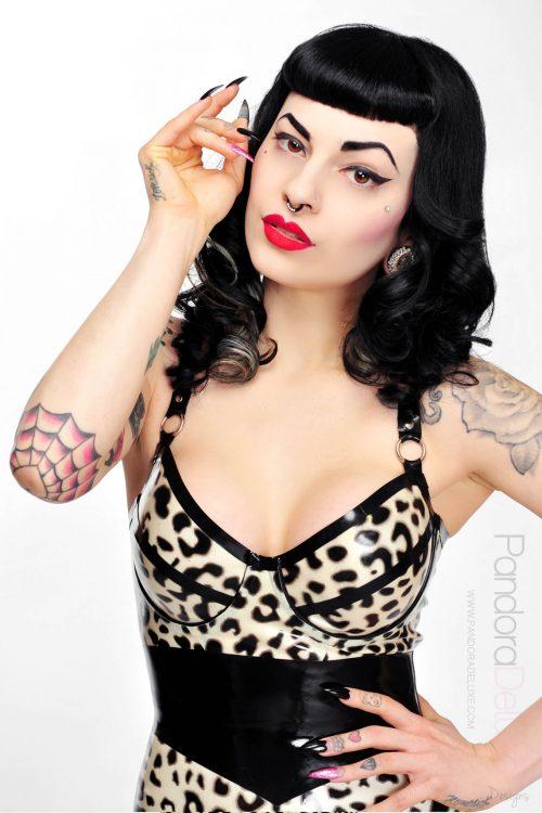 selina leopard print bra