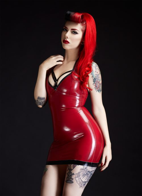 SpellBound O Ring Latex Dress