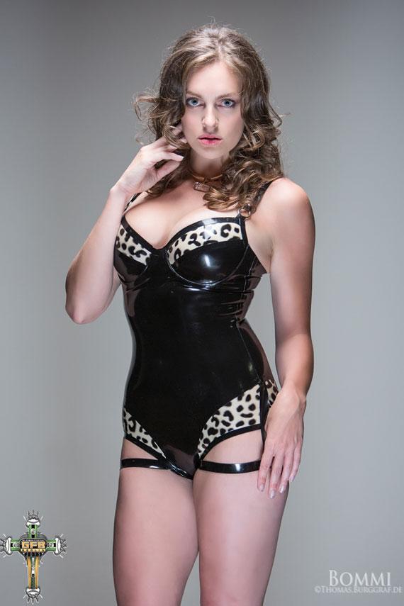 tasha leopard print latex bodysuit 01